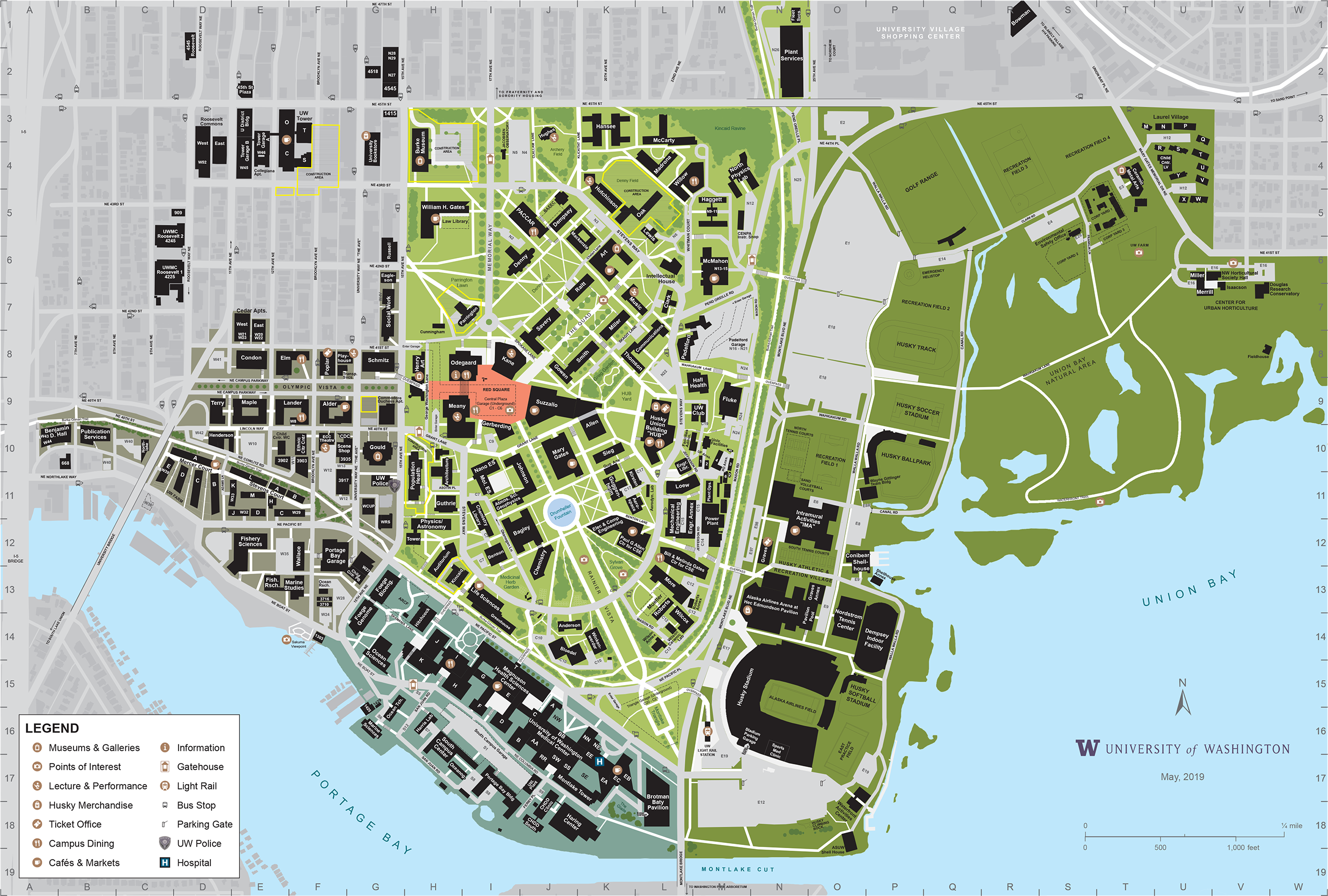 Uw Seattle Campus Map Park Ideas